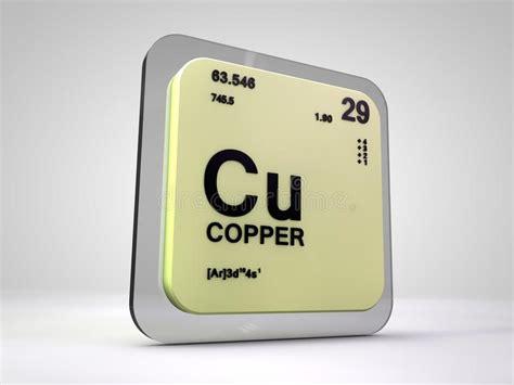 rame tavola periodica rame cu tavola periodica dell elemento chimico