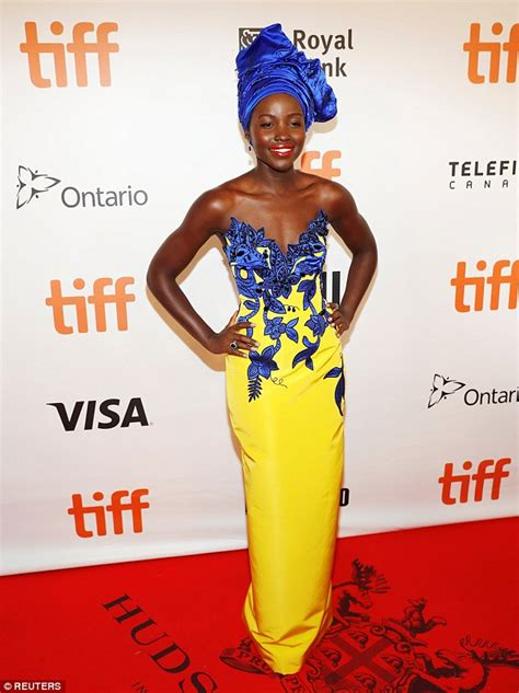 Pattern Lupita Dress lupita nyong o oozes royalty at of katwe premiere during tiff daily mail