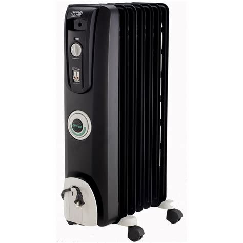 feature comforts oil filled radiator heater delonghi ew7707cb comfort temp 7 fin oil filled radiator w