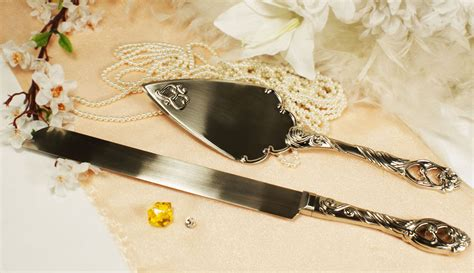 Wedding Knife and Wedding Cake Server Set Heart Personalized Engraved Available   eBay