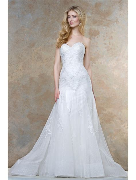 Ellis Designer Wedding Dresses by Ellis Bridals 11442a Soft Sweetheart Neckline Lace Bridal