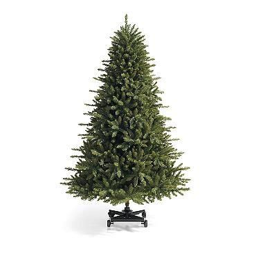grandinroad noblis fir tree for sale grand fir artificial tree with wheeled stand grandinroad 2014