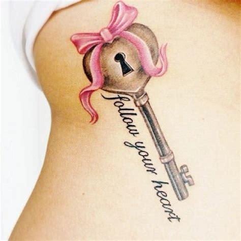 tattooed heart key quot follow your heart quot key and lock tattoo tattoos