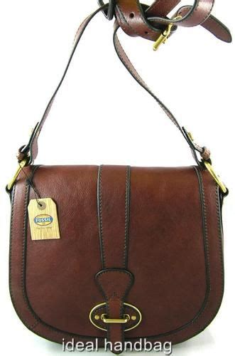 New Fossil Sling Bag Stripes new nwt fossil leather vri vintage reissue brown sling messenger crossbody bag fossil leather