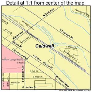 map of caldwell caldwell idaho map 1612250