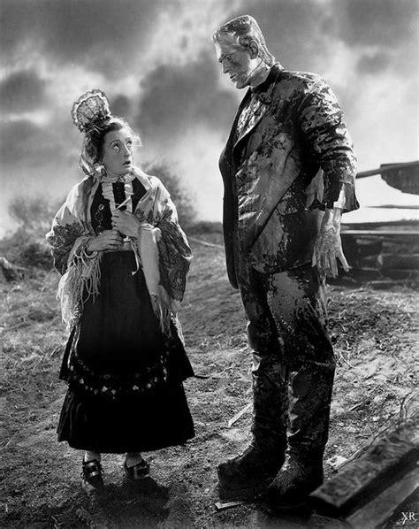 "Una O'conner and Boris Karloff ""The Bride of Frankenstein"