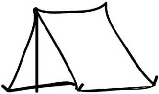 tent coloring page page image with words