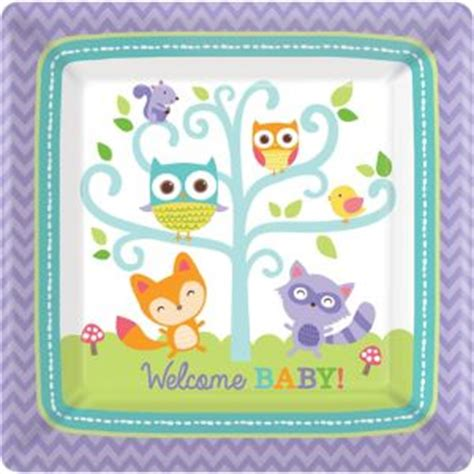 City Baby Shower Plates by Woodland Baby Shower Dinner Plates 8ct City