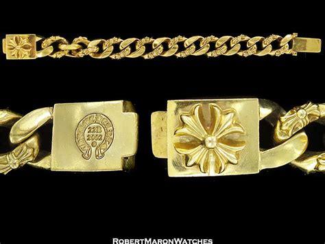 chrome hearts  floral cross bracelet ring set