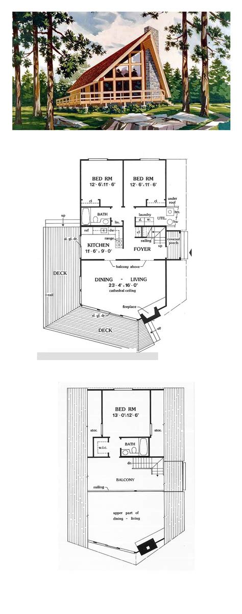 dreamy 4 bedroom with soaring ceilings open plan a frame cabin contemporary house plan 90603 house plans