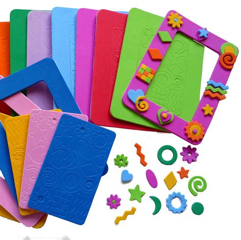 foam craft for foam photo frames 10 colours pk10 kidzcraft
