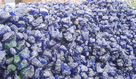 clear colored cobalt blue slag glass rocks for