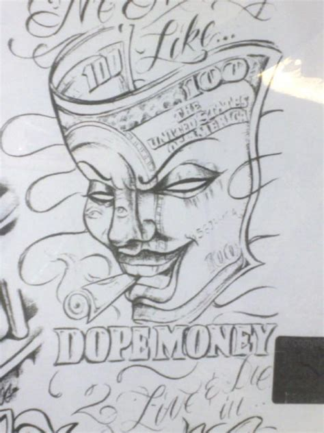 dope tattoo drawings money outlines pictures to pin on