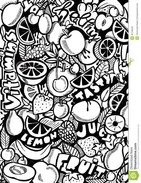 doodle black pen fruit doodle stock illustration image of serve fast