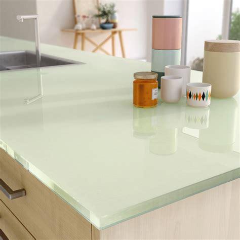 馗lairage cuisine plan de travail plan de travail sur mesure verre laqu 233 vert ep 15 mm