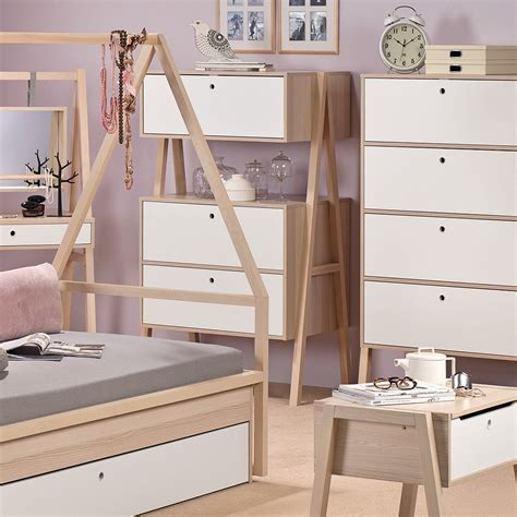 bedroom furniture spot spot chest of three drawers in acacia kids desks