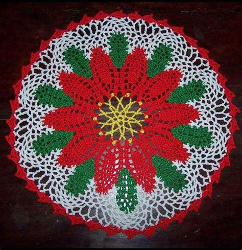pattern crochet poinsettia poinsettia doily free pattern free crochet patterns