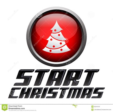 how to get starterd for chrismas start start button royalty free stock images image 35241019