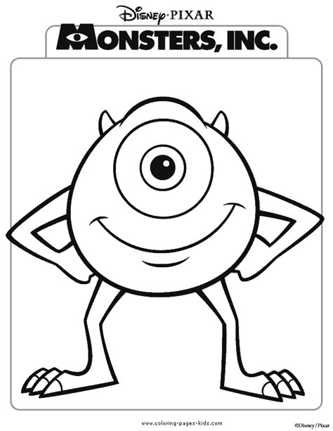 Monsters Inc Coloring Pages Coloring Pages For Kids Inc Color