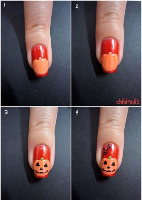 easy nail art tutorial step by step 20 easy step by step halloween nail art tutorials for