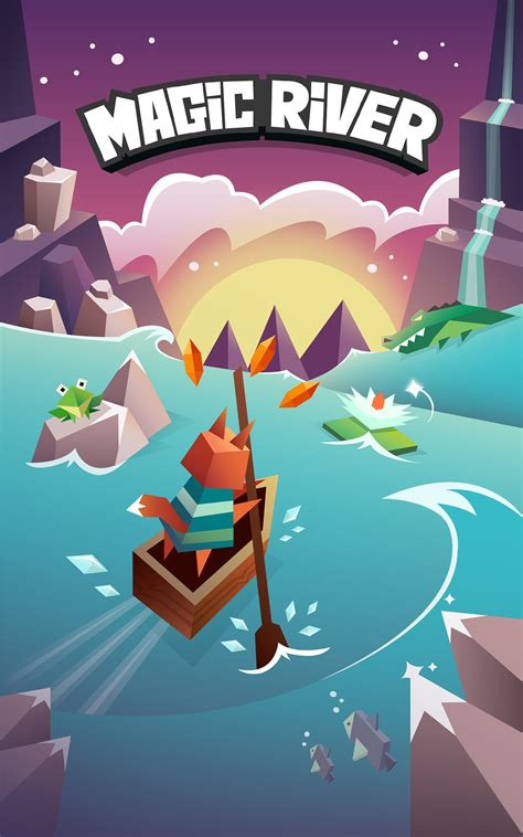 design game ios magic river game on behance