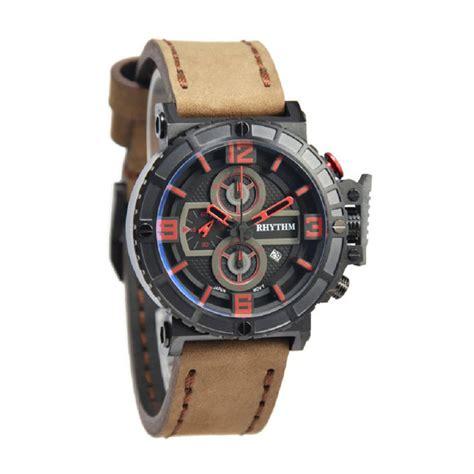 Rhythm Fi1607l 02 Jam Tangan Pria Leather Black harga rhythm i1401l02 coklat tua jam tangan pria pricenia