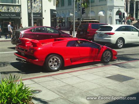 Lamborghini Of Beverly Lamborghini Diablo Spotted In Beverly California On