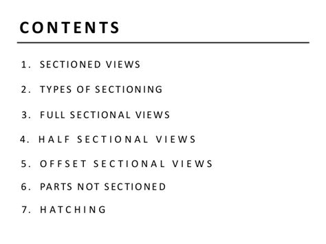 types of sectional views projection of sectional view engineering drawing b tech