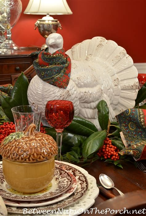 thanksgiving table with turkey thanksgiving table with spode woodland a turkey