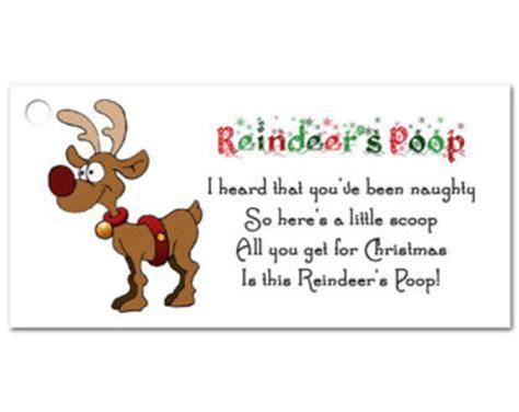 printable reindeer poop tags reindeer poop etsy