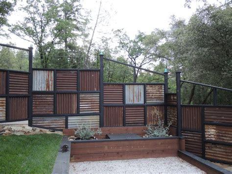 corrugated metal fence ideas corrugated metal fence ideas fence made using corrugated metal roofing diy
