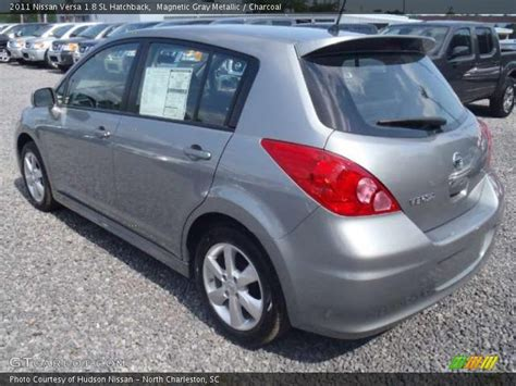 grey nissan versa hatchback 2011 nissan versa 1 8 sl hatchback in magnetic gray