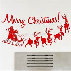 merry christmas wall stickers merry christmas silhouette wall art stickers wall decal