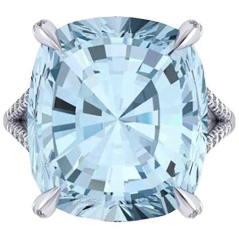 Handmade Aquamarine Ring - ferrucci 22 10 carat aquamarine and diamonds in