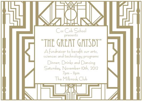 great gatsby invitation template phhs prom ideas on gatsby roaring 20s and