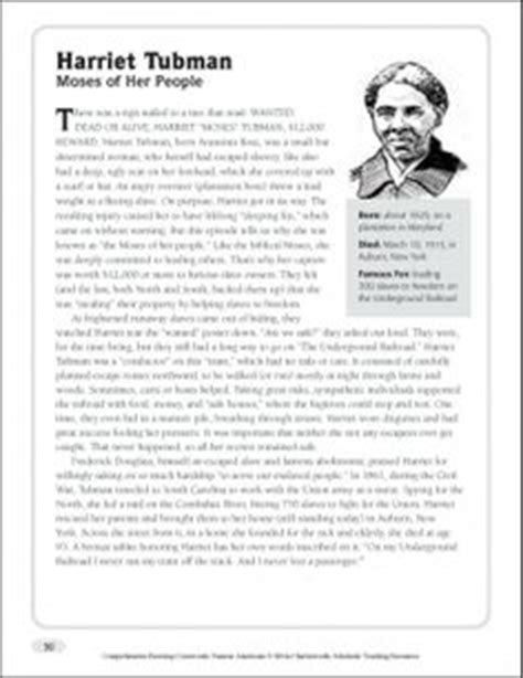 harriet tubman biography and questions first grade reading comprehension worksheets questions