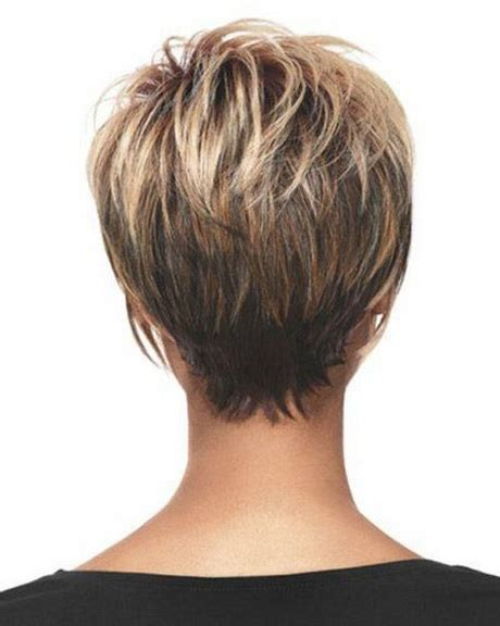 show front back short hair styles short haircuts front and back view