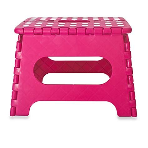 pink step stool easy fold step stool by kikkerland 174 pink buybuy baby