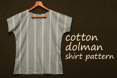sewing pattern grandad shirt free dolman shirt pattern cotton fabric clothing