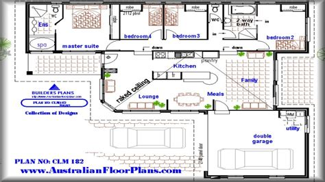 House Plans With Pool by 4 Bedroom House With Pool 4 Bedroom House Floor Plans 4