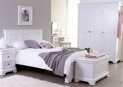 White Painted Bedroom Furniture Bedroom Furniture White Painted Shaker Beds Chest Of Drawers Bedsides Wardrobes Ebay