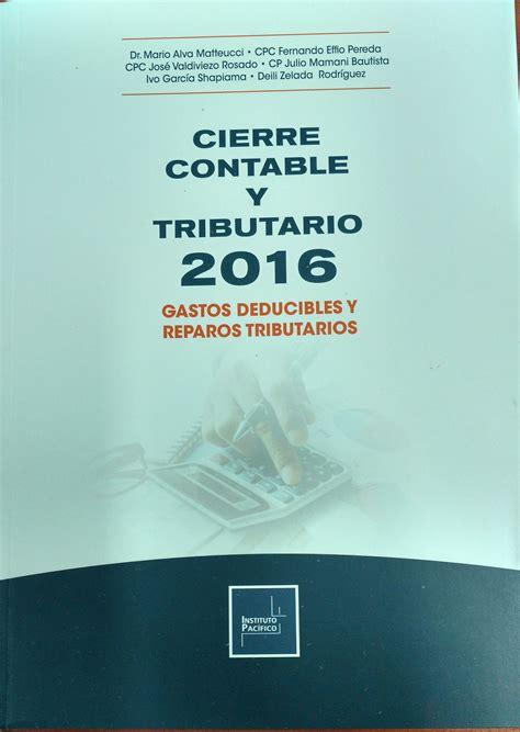 www prevalidador tributario 2016 libro cierre contable y tributario 2016 gastos