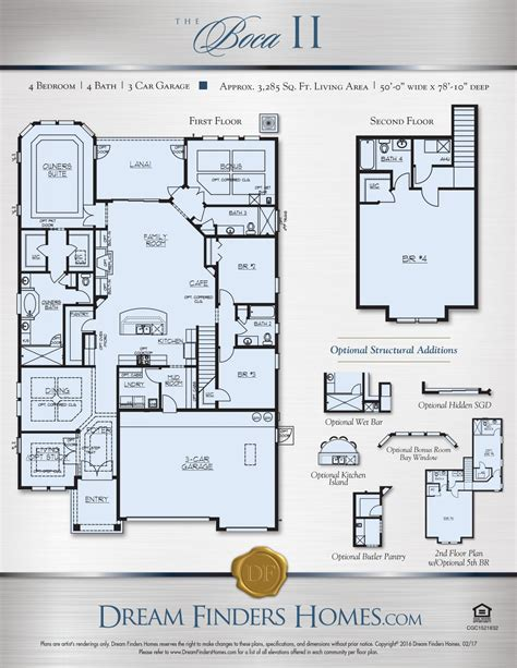 dream finders homes floor plans boca ii dream finders homes