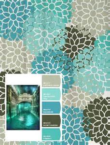 shower curtain in turquoise aqua blue and gray standard