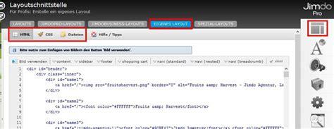 layout jimdo html jimdo eigenes layout mit x html css co jimdo