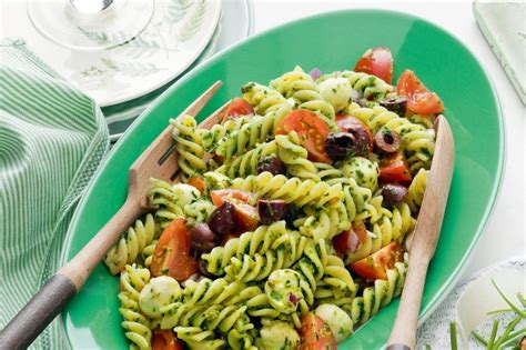 pesto salad rocket pesto pasta salad recipe taste com au