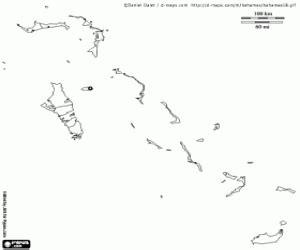 bahamas map coloring page coloriage cartes politiques de pays de l am 233 rique 224