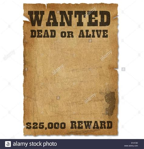 wanted sign template template wanted poster template