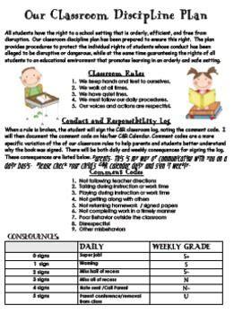 Parent Letter Classroom Management Plan Best 25 Discipline Plan Ideas On Discipline In Schools Classroom Discipline And