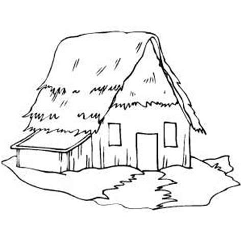 cottage house coloring pages old straw cottage coloring page